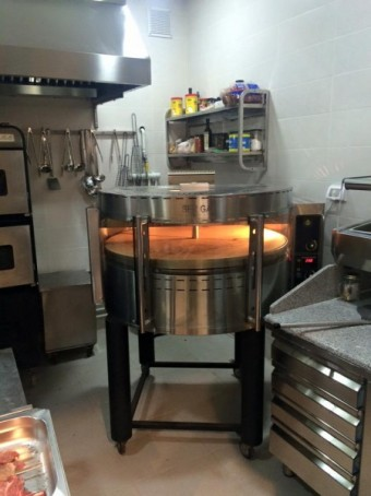 Elektrische pizza oven met draaiende dek en de basis RPE1