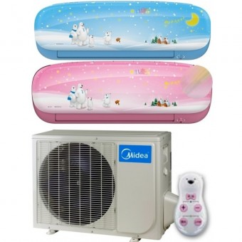 Midea KIDS STAR-27 PINK / BLUE Single Split wandmodel Super DC Inverter A+++