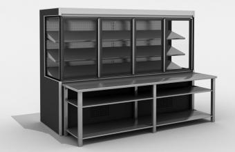 Speciaal ontworpen Koelmeubel  Model Medusa Cube voor u vis producten Van Safecold B.V.