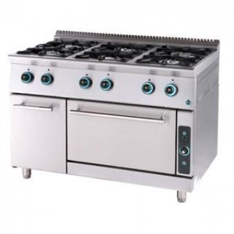 Gas kookplaat met zes oven kabinet FC6FS7-LINE 750
