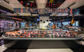 Exclusief Koeltoonbank Speciale op maat gemaakt met Plaatkoeling en met steun verdamper Speciaal voor vlees, vis, zuivel Producten.