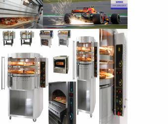 Gas pizza oven met draaiende dek en base RP1